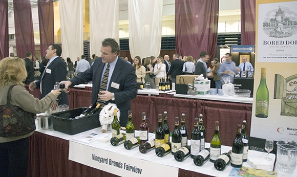 Wine on display at the Gordon Field House