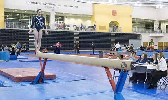 Gymnastic Competition at the Gordon Field House
