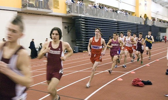 Track meet at the Gordon Field House's indoor track