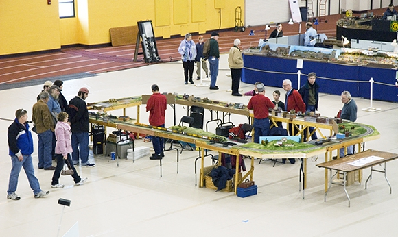 RIT Model Train Club show in the Gordon Field House