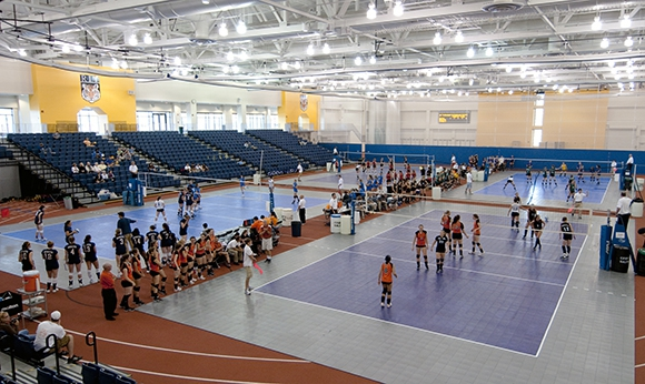 Indoor Volleyball counts at the Gordon Field House