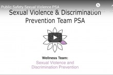 Screenshot of the video: Public Safety Sexual Violence PSA. Watch or listen to the video on youtube.