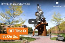 Screenshot of the video: RIT TItle IX It's on Us. Watch or listen to the video on youtube.