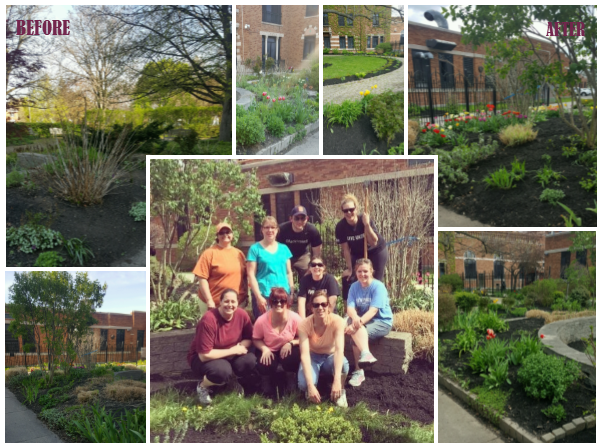 Sponsored Programs Accounting, along with other members of the Controller's Office, participated in the 2016 United Way Day of Caring through the beautification of the Alzheimer's Memory Gardens at Monroe Community Hospital.