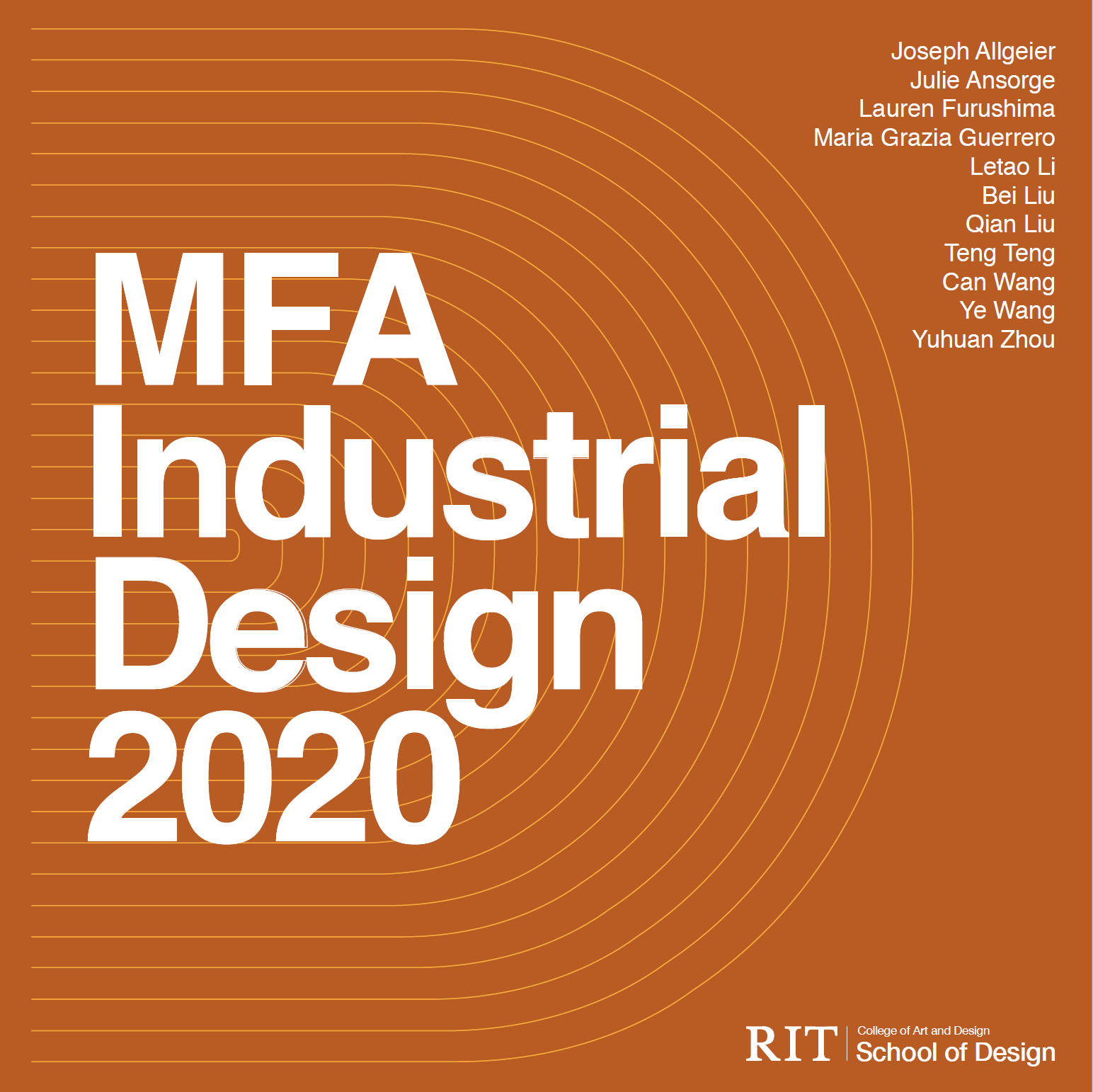 MFA Industrial Design 2020 show poster