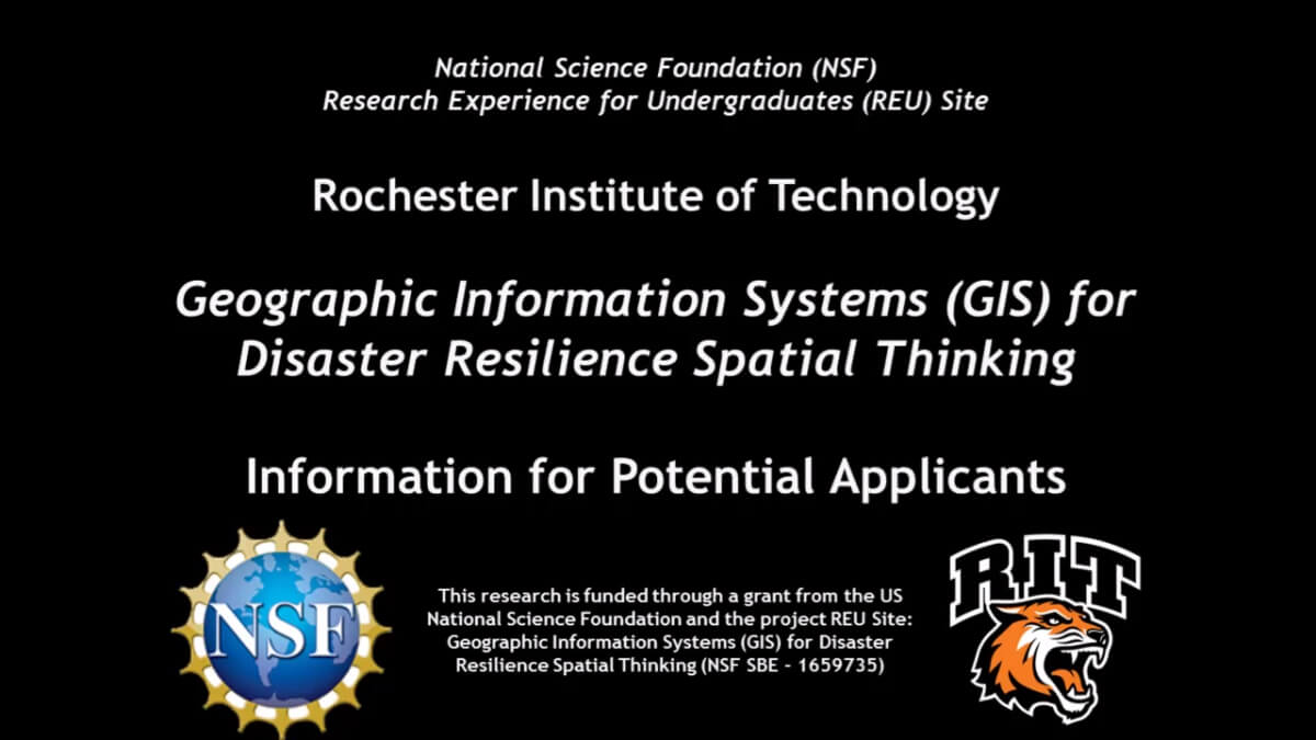 Screenshot of NSF REU Information for Applicants video