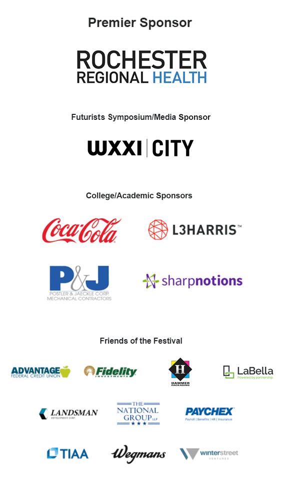 grid of festival sponsor logos.