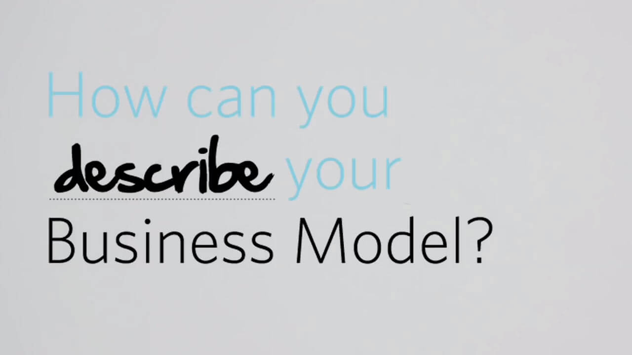 A video thumbnail that reads: How can you describe your Business Model.