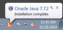 Oracle Java popup