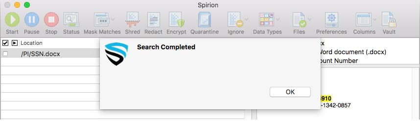 macos spirion end user documentation