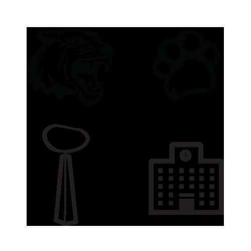 Display of 4 custom RIT icons
