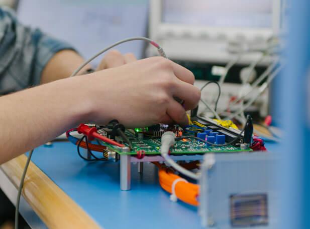 Detailed shot of circuit board