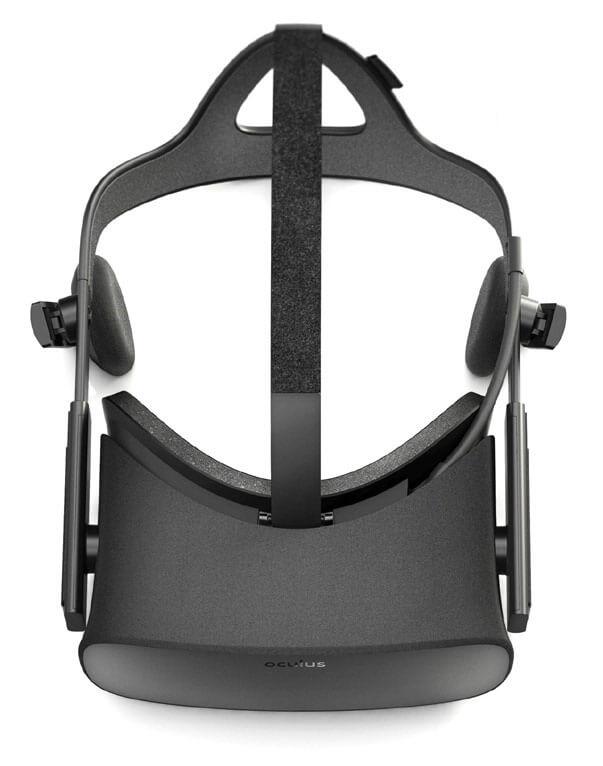 Overhead shot of virtual reality googles