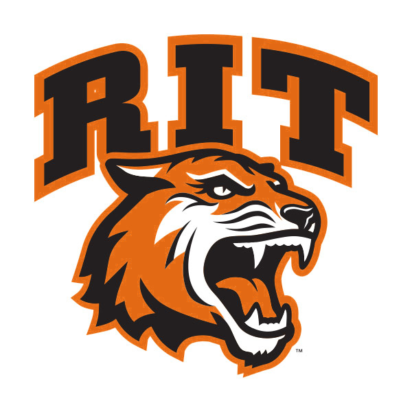 RIT athletics tiger head with text