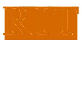 Full vertical RIT Logo - White