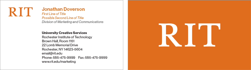 Business Card example 1
