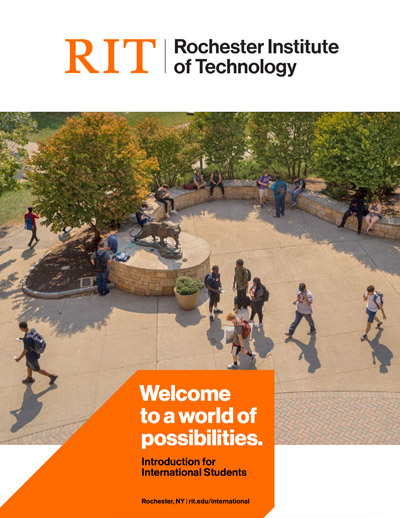 Cover of Intro to RIT for International Students brochure.