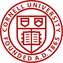 Logo of Cornell University and link to Cornell Website