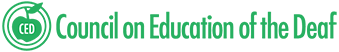 Council on Education of the Deaf logo