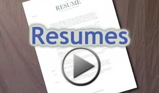 Video about how to build a resume