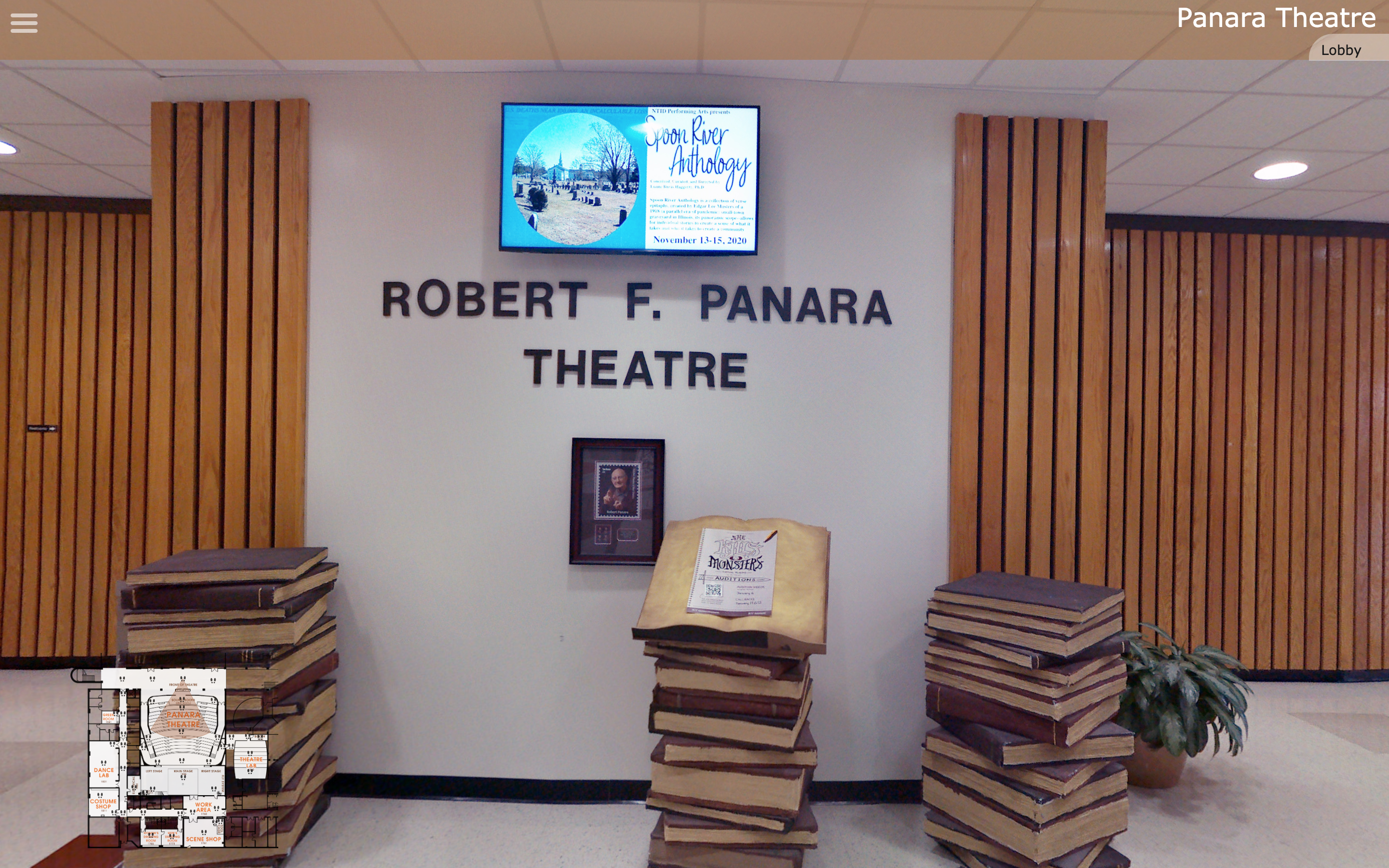 Photo of the outside of Panara Theatre