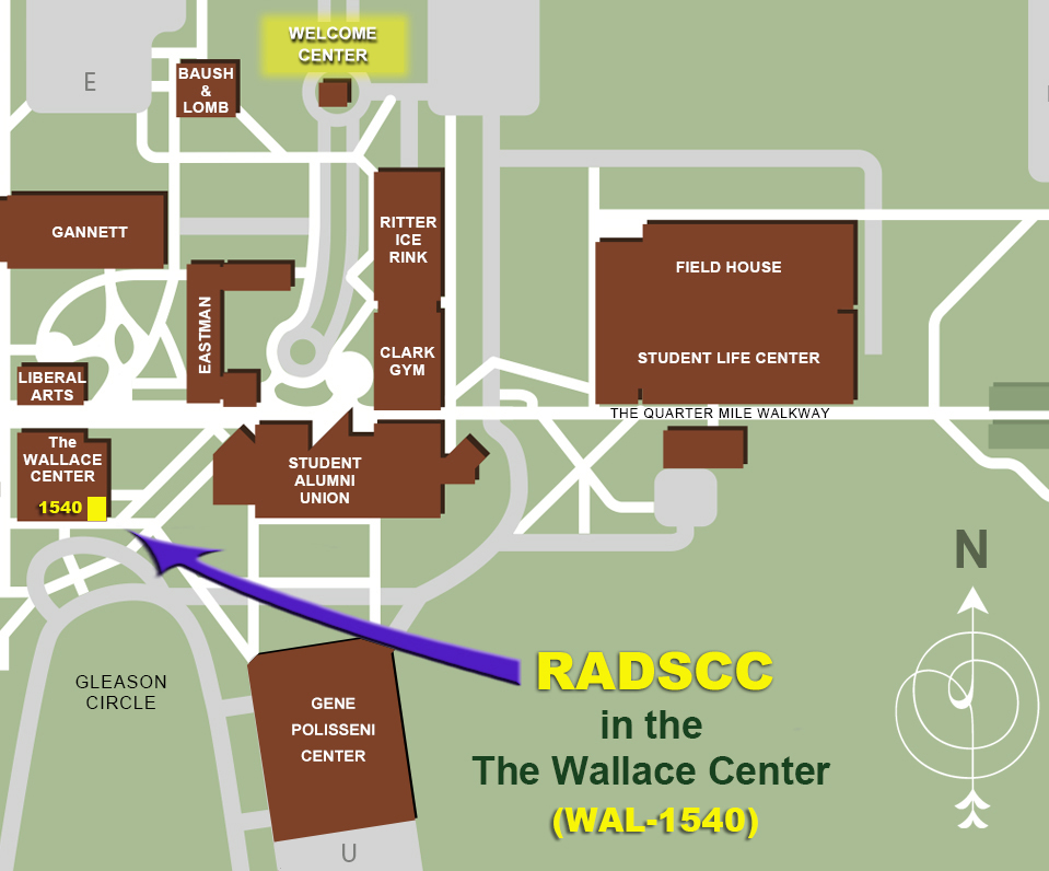 Map of RADSCC on the RIT campus