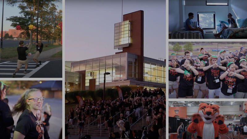 A collage of images from the 2019 Orientation at RIT.