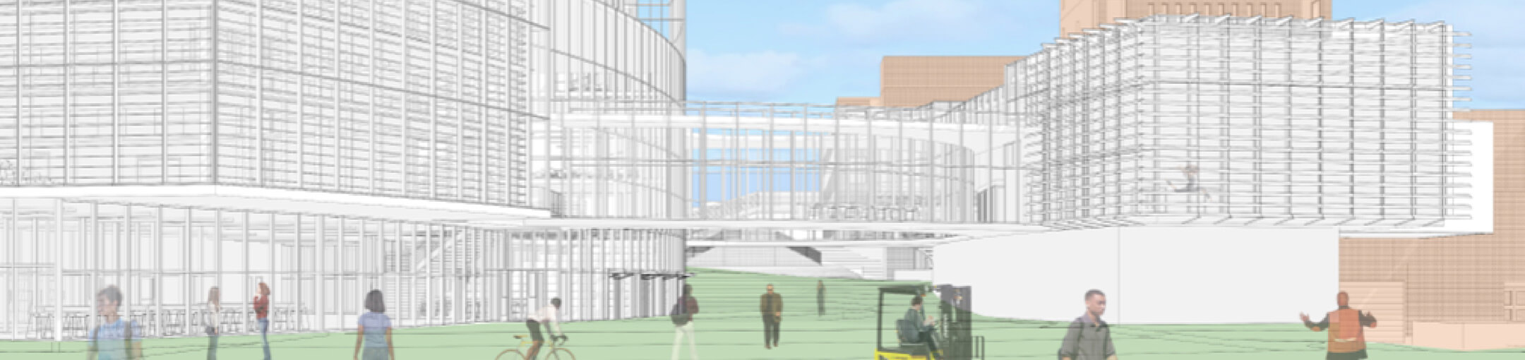 Early renderings of what the upcoming Innovative Maker and Learning Complex will look like.