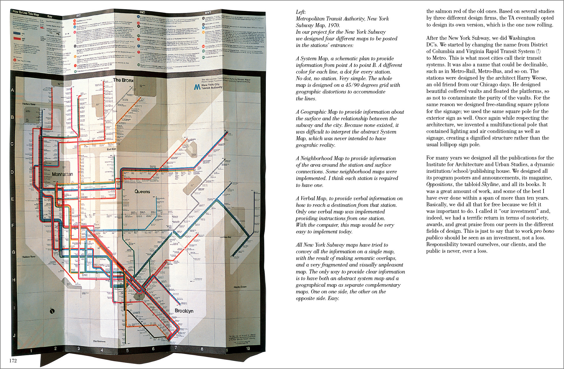 Massimo Vignelli Subway Map Connections.Vignelli From A To Z Rit Press Rit