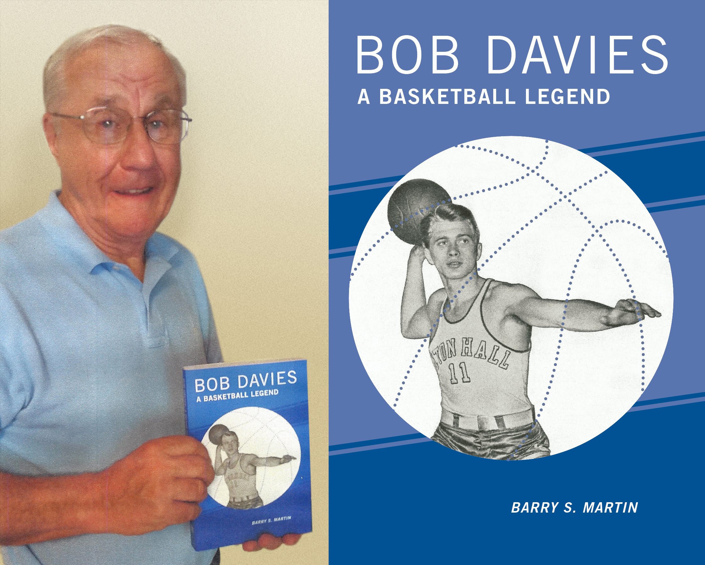 Author Barry Martin with his book on Bob Davies