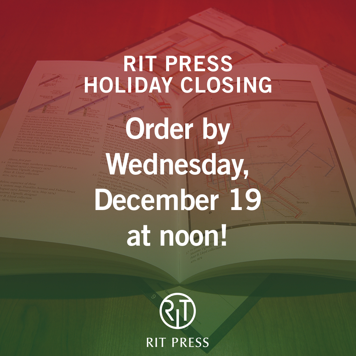 RIT Press Holiday Closing