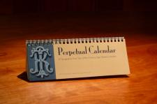 Perpetual Calendar of Typography from Turn of the Century Sign Painter's Models