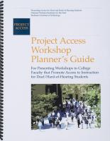 Project Access Workshop Planner's Guide