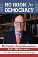 No Room for Democracy, Hardcover