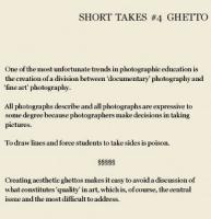 Teaching Photography, Notes Assembled