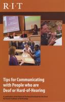 Tips for Communicating with People who are Deaf or Hard-of-Hearing