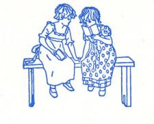 Letterpress Stationery, Girls Reading