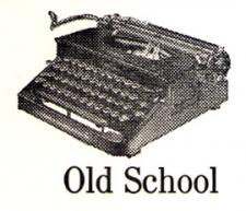 Letterpress Stationery, Old School Typewriter
