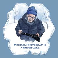 Michael Photographs a Snowflake