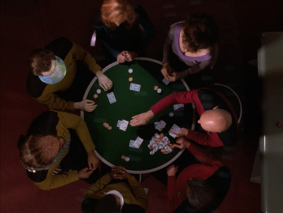 star trek crew plays poker