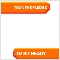 A blank frame for Facebook with RIT Ready