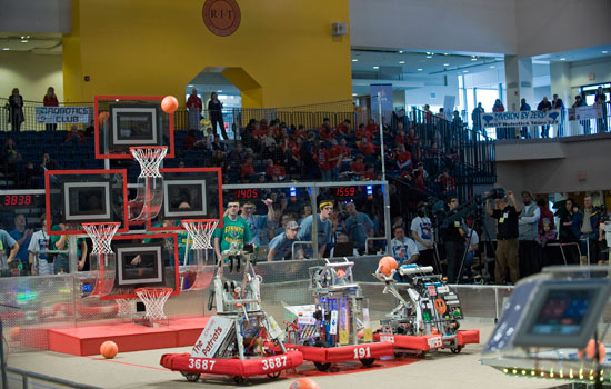First Robotics Regional Event Takes Place March 1 And 2 At Rit Field