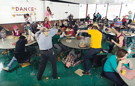 Choreographed Food Fight Nourishes Rit Photo Tradition Rit News