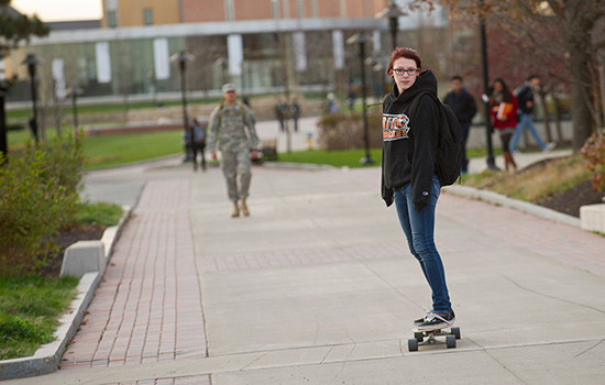 Image result for college student skateboarding