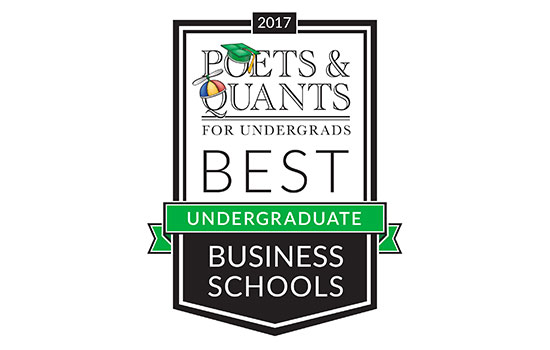 Saunders College cited in Poets&Quants 2017 rankings of top business programs