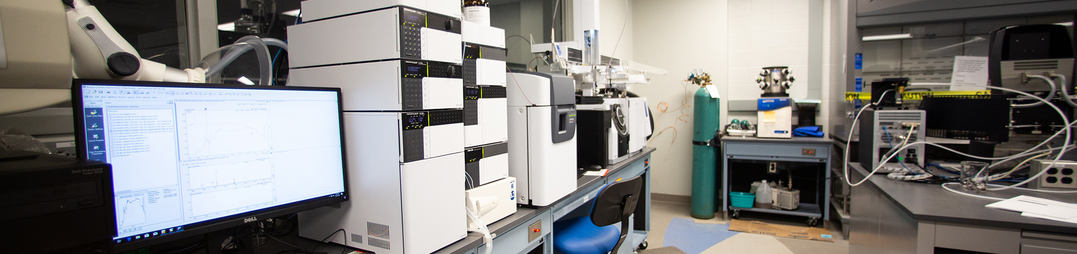 Lab equipment for the Analytical and Material Chemistry Facilities.