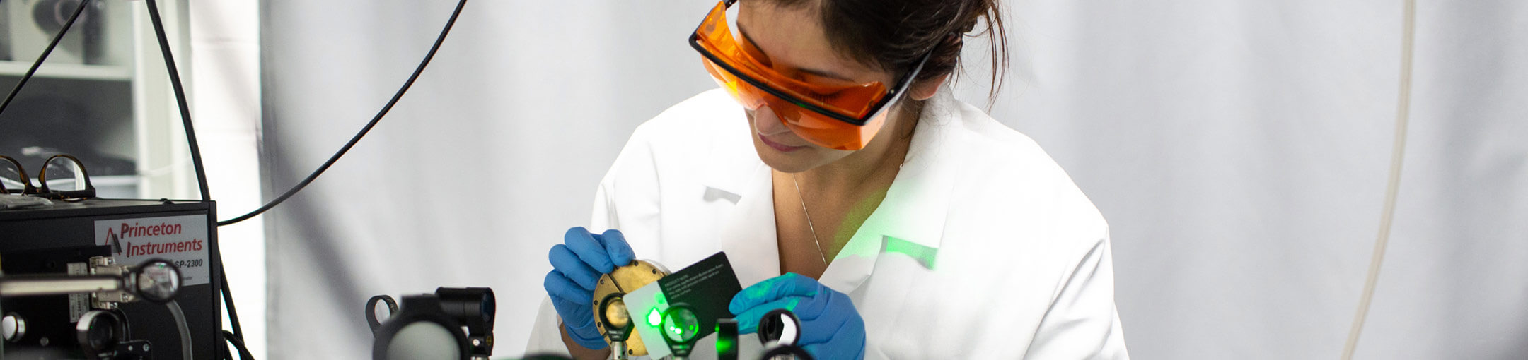 female research student in NanoPower Research Lab
