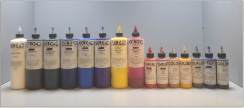 a set of primary pigment