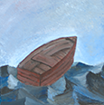 painting of a row boat
