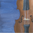 painting of violin